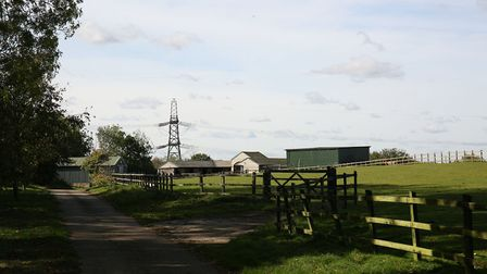 The former landfill site off Blakemore End Road near Little Wymondley where it is proposed to build