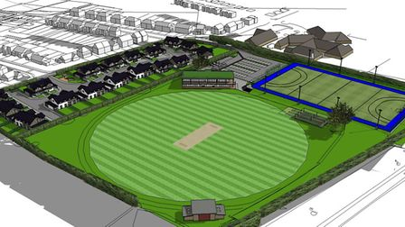 An artist's impression of what the new Lucas Lane ground will look like. Picture: Hitchin Town Crick