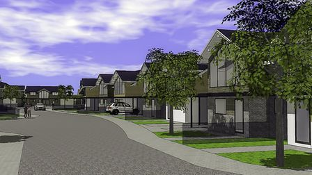 An artist's impression of what the planned houses off Lucas Lane will look like. Picture: Hitchin To
