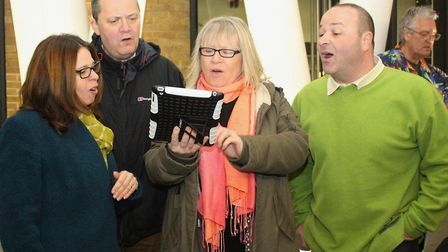 Sandy Ukulele Group also has a choir of around 10 people. Picture: Sandy Good Neighbours