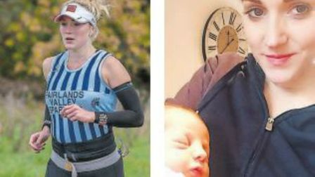 Fairlands Valley Spartans runner Natalie Lawrence was back competing less than two weeks after givin