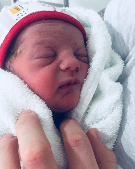 Little Louie Lawrence was the second arrival at Lister Hospital on January 1. Picture: Natalie Lawre