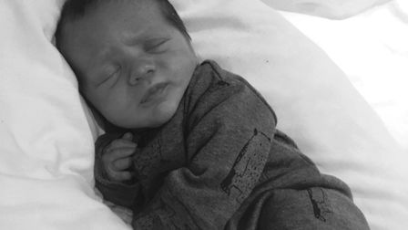 Louie Lawrence was born on New Year Day. Picture: Natalie Lawrence