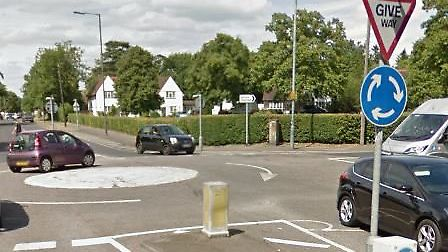 Repair work has caused congestion on a main road for the Grange Estate in Letchworth. Picture: Googl