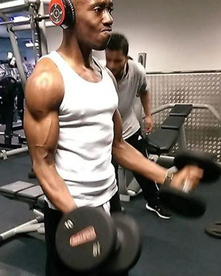 Josh working out at the Gym. Picture Ahisha Ferguson