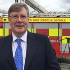 Police and crime commissioner for Essex, Roger Hirst, at an event with the fire service earlier this