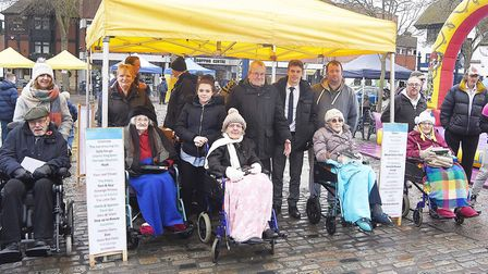 Participants in the wheelchair race. Picture: Alan Millard