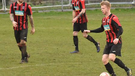 A Saffron Walden Town player on the attack (pic Dominic Davey)