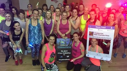 People who took part in the Clubbercise Clubbathon in Stevenage have raised more than £11,000 for th