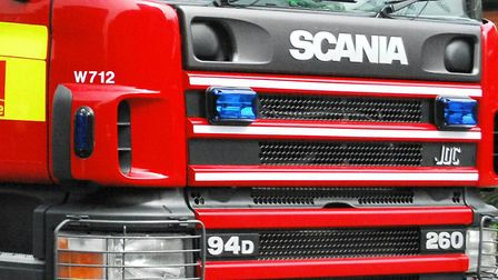 A car was alight on the A505 at the weekend between Baldock and Royston