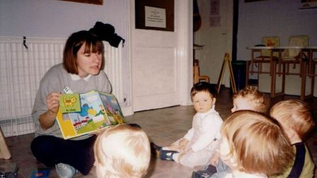 Emma Nuttall during her early days at Smartys Day Nursery in Hitchin. Picture: Smartys