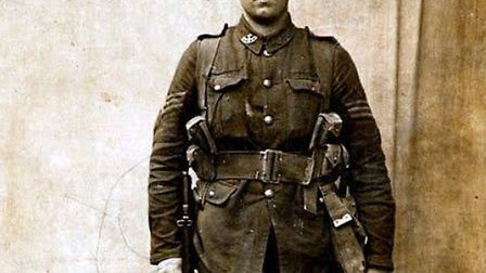 Hitchin's Second Lieutenant Frank Young VC, pictured earlier in the war as a sergeant. Picture: Hert