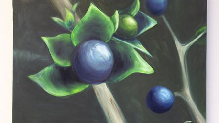 Jessica Cowsley's Nightshade oil canvas. Picture: Jessica Cowsley