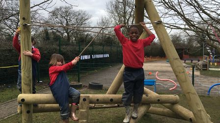 The school has been developing its outdoor play areas, with the climbing equipment being the latest