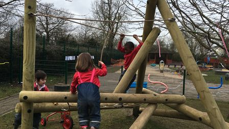 The Harter Fell climber has been donated by Support UK to the outdoor play area for the school's you