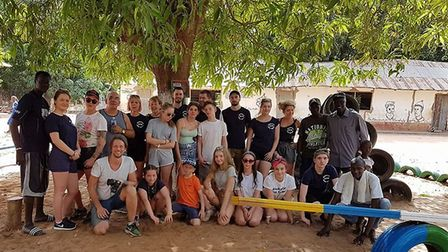 The Marriotts Gambia Project team in the completed park. Picture: Marriotts Gambia Project