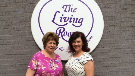 The Living Room founder Janis Feely MBE with chief executive Adrienne Arthurs. Picture: The Living R