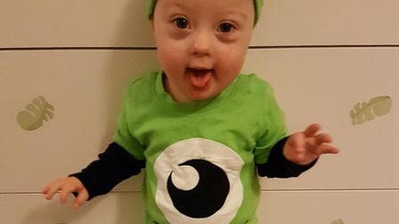 Harry Jeram was diagnosed with Down Syndrome less than a week after being born. Picture: Amanda Jera