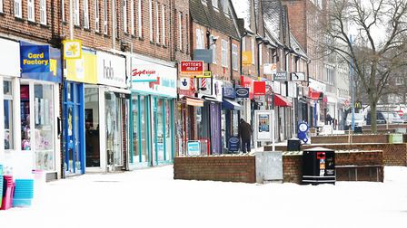 Snow in Potters Bar earlier this month. Picture: Danny Loo