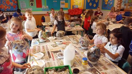 Pupils at Roebuck Academy doing dragon-themed activities. Picture: Megan Thomas