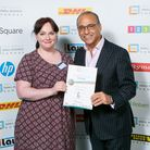 Emily Hayes, owner of online jewellery company Scintilla Sunrise, with Theo Paphitis