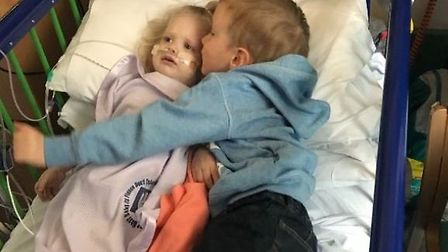 Mia Percival and her brother James. Picture courtesy of Nicola Minett.