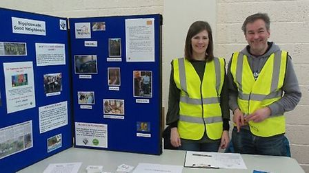 The Biggleswade Good Neighbours stall at the Orchard Centre public engagement event. Picture: Biggle
