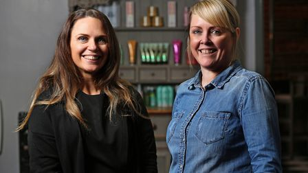 Salon EightyFour owner Jessica Donald (right) and new team member Abi Gregory. Picture: Danny Loo