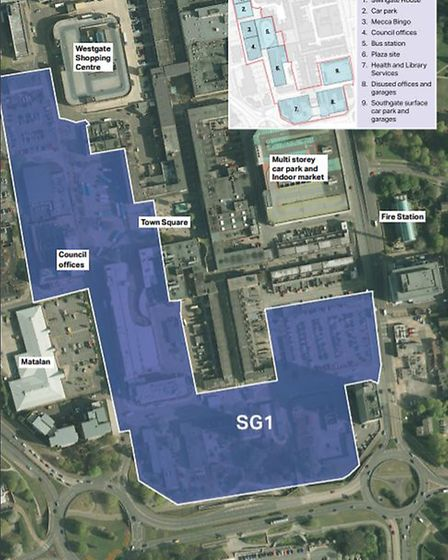 A plan showing the area that will be covered by SG1. Picture: Stevenage Borough Council