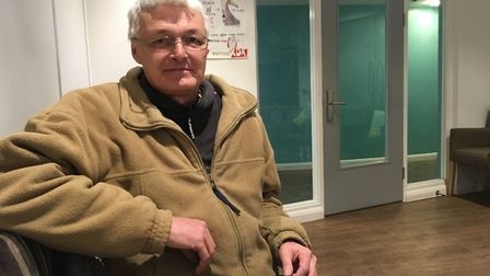 Simon Hilton has turned his life around after being homeless thanks to the Haven. Picture: Georgia B