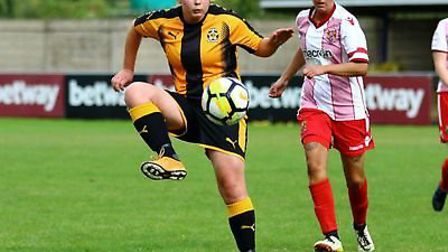 Footballer Ruth Fox tells the story of her battle with mental health issues. Picture: Steve Bett Pho