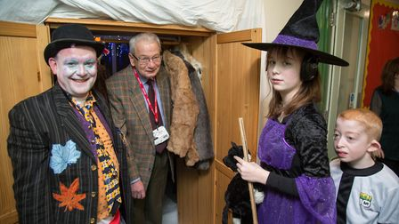 World Book Day 2018 - Mayor Michael North in the doorway to Narnia. Picture: Margesson Photography