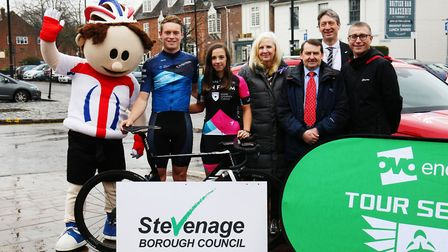 The launch of the OVO Energy Tour Series in Stevenage Old Town. Picture: Danny Loo