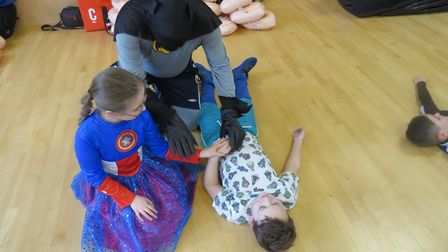 More than 220 pupils at five schools were taught life-saving skills such as CPR and how to use a def
