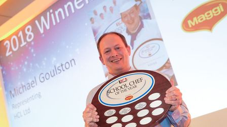 Michael scooped the award for School Chef of the Year in th eprestigious LACA competition. Picture: