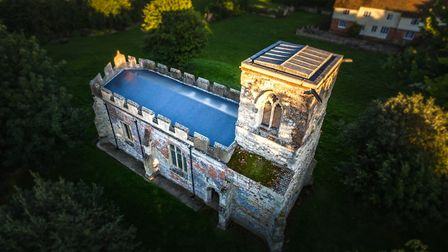 Caldecote Church is one of Complete Property Photography's first photographic project's usng drone t
