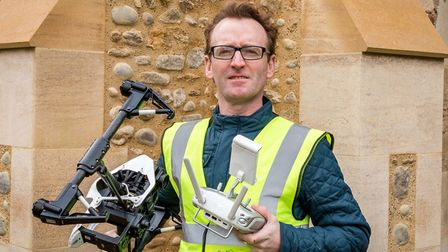Taking photographs of buildings and properties using drones is a passion project for founder John Mc