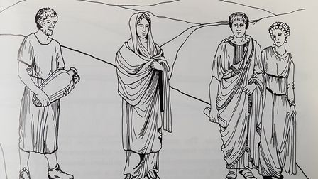 An artist's impression of what the Romano-British people living at Chells may have looked like. Pict