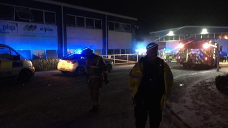 Police, fire and ambulance attended the scene of the blaze. Picture: Steve Paffett