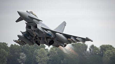 A Royal Air Force Typhoon FGR4 taking off from RAF Fairford. Picture: MoD/Crown copyright
