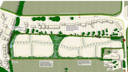 A plan of how the development would look. Picture: Hollins Strategic Land