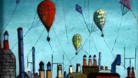 Chimneys by Fred Uhlman is one of 428 works which are being consulted on for disposal. Picture: Hert
