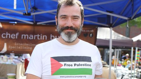 Hitchin Labour activist Martin Burke, pictured at the town's food and drink festival. Picture: Karyn