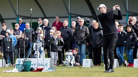Jeremy Dale performed trick shots at Knebworth Gold Club. Picture: TBC