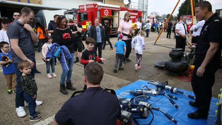 at the Hertfordshire Fire & Rescue Longfield Open Day. Picture: DANNY LOO
