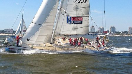 Edward and his crew won the Clipper Race. Picture: CONTRIBUTED