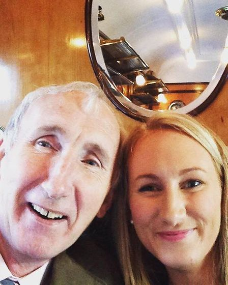 Jo and her father Roy, who was diagnosed with pancreatic cancer four years ago.