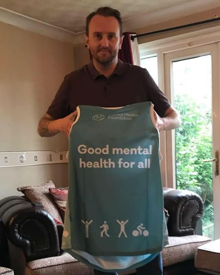 Graham Southey, from Stevenage, is running the London Marathon to raise money for the Mental Health
