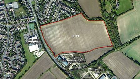 Aerial view of site on Thaxted Road. Picture: Kier Living Limited