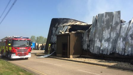 The scene at Bedfordshire Growers near Biggleswade after the fire last night. Picture: Bedfordshire